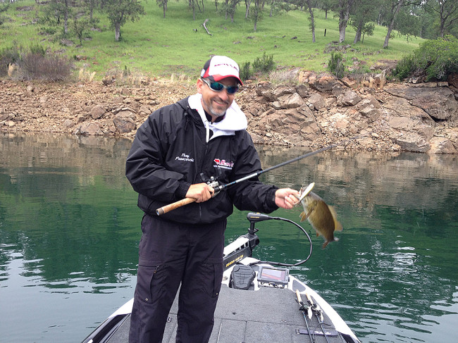 Tony with a nice 2lb smallie